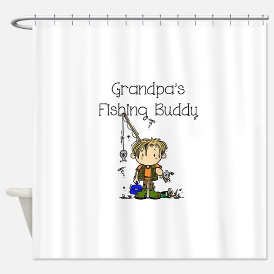 Grandpa's Fishing Buddy Shower Curtain