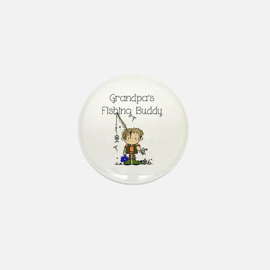 Grandpa's Fishing Buddy Mini Button