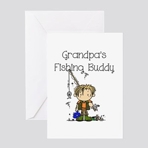 Grandpa's Fishing Buddy Greeting Card