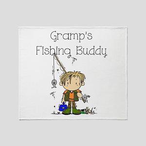 Gramp's Fishing Buddy Throw Blanket