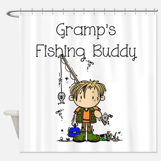 Gramp's Fishing Buddy Shower Curtain