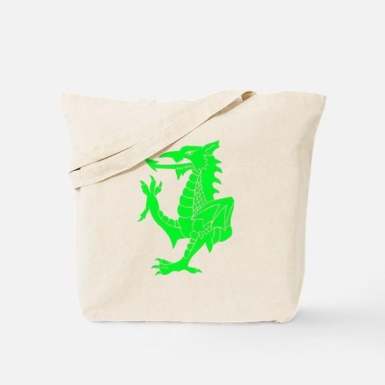Green Tribal Dragon Tote Bag
