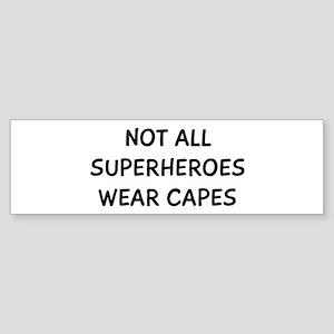 Not Capes Sticker (Bumper)
