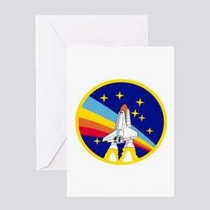 Rainbow Rocket Greeting Cards