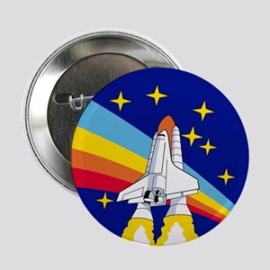 "Rainbow Rocket 2.25"" Button"