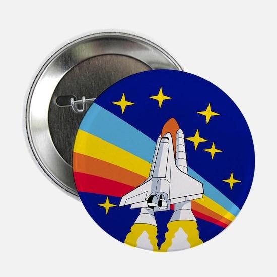 "Rainbow Rocket 2.25"" Button"