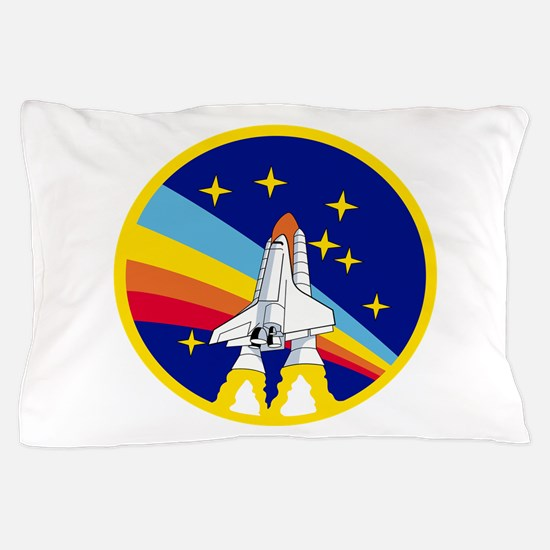 Rainbow Rocket Pillow Case