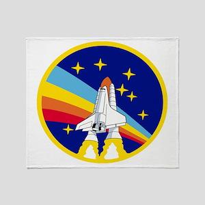 Rainbow Rocket Throw Blanket