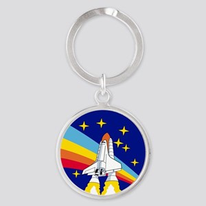 Rainbow Rocket Keychains