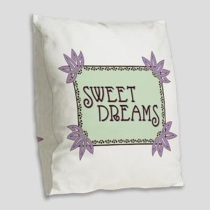 Sweet Dreams Burlap Throw Pillow