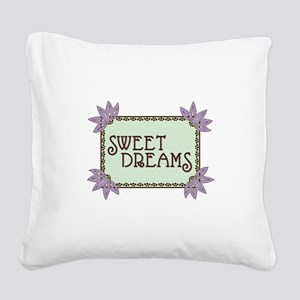 Sweet Dreams Square Canvas Pillow