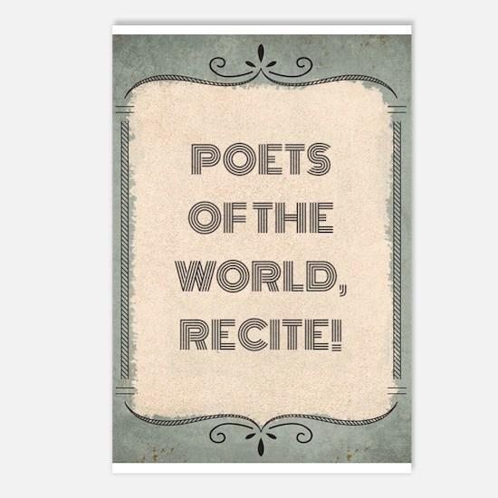 Poetry Slogan Postcards (package Of 8)