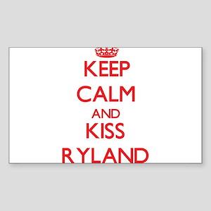 Keep Calm and Kiss Ryland Sticker