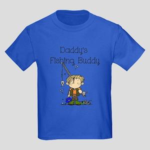 Daddy's Fishing Buddy Kids Dark T-Shirt