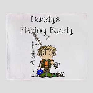 Daddy's Fishing Buddy Throw Blanket