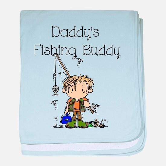 Daddy's Fishing Buddy baby blanket