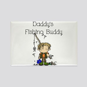 Daddy's Fishing Buddy Rectangle Magnet