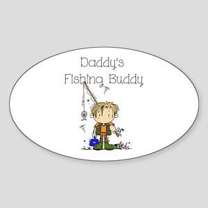 Daddy's Fishing Buddy Sticker (Oval)