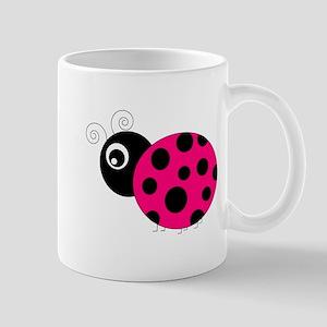 Hot Pink and Black Ladybug Mugs