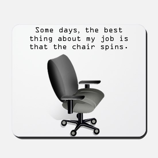 Chair Spins Mousepad