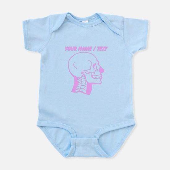 Custom Pink X-Ray Skull Body Suit