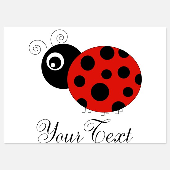 Red and Black Personalizable Ladybug Invitations