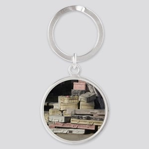 Coming Home Soon Round Keychain