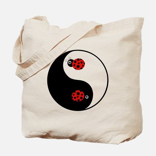 Ladybug Yin Yang Tote Bag