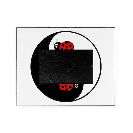 Ladybug Yin Yang Picture Frame By Beachbumfamilyshop