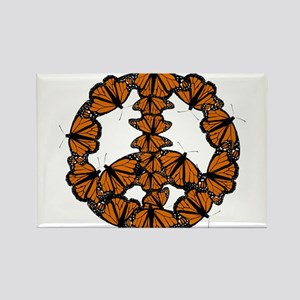Black and Orange Butterfly Peace Magnets