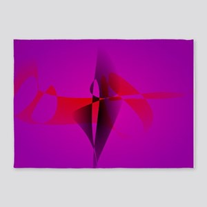 Spontaneous Purple Abstract Digital Image 5'x7'Are