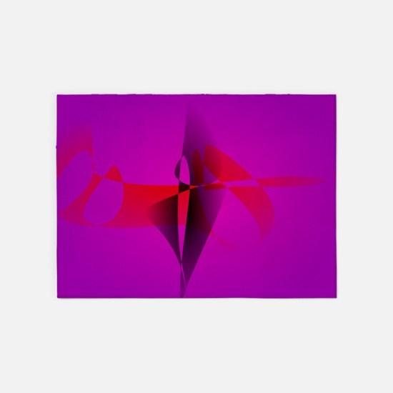 Spontaneous Purple Abstract Digital Image 5'x7'Are