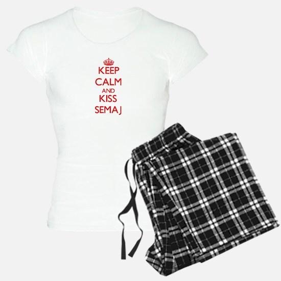 Keep Calm and Kiss Semaj Pajamas
