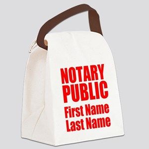 Notary Public Canvas Lunch Bag