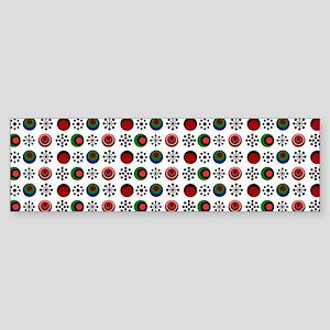Retro Circles Sticker (Bumper)