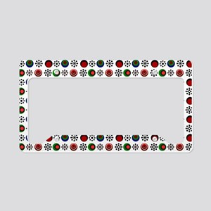 Retro Circles License Plate Holder
