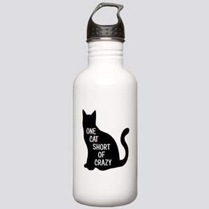 One Cat Short Of Crazy Water Bottle