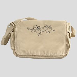 Broken Skeleton Messenger Bag