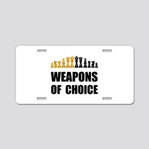 Chess Weapons Aluminum License Plate