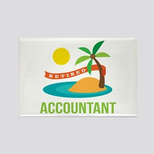 Retired Accountant Rectangle Magnet