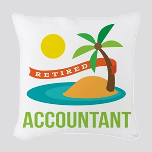 Retired Accountant Woven Throw Pillow