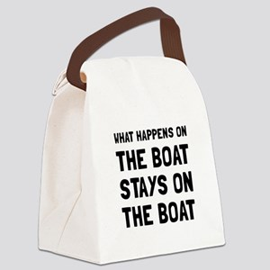 Happens On The Boat Canvas Lunch Bag