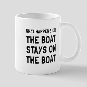 Happens On The Boat Mugs