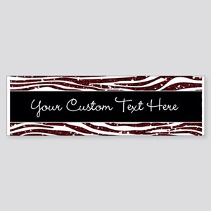 Red Black Glitter Custom Sticker (Bumper)