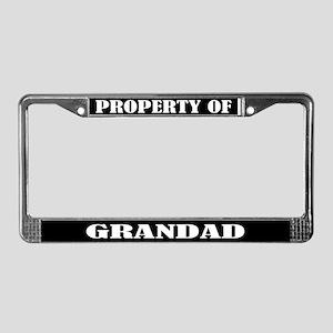 Property Of Grandad License Plate Frame