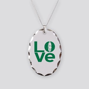 Nigerian LOVE Soccer Necklace Oval Charm