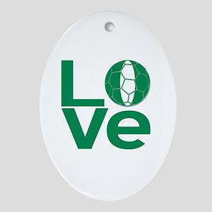 Nigerian LOVE Soccer Oval Ornament