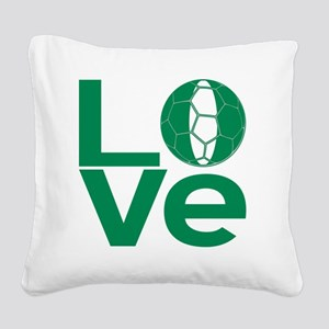 Nigerian LOVE Soccer Square Canvas Pillow
