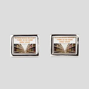 BOOKSCIA2 Rectangular Cufflinks