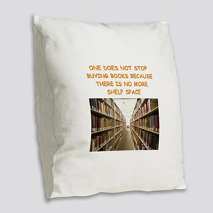 BOOKSCIA2 Burlap Throw Pillow